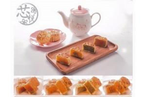 迷你傳統單黃白蓮蓉月餅 4個裝